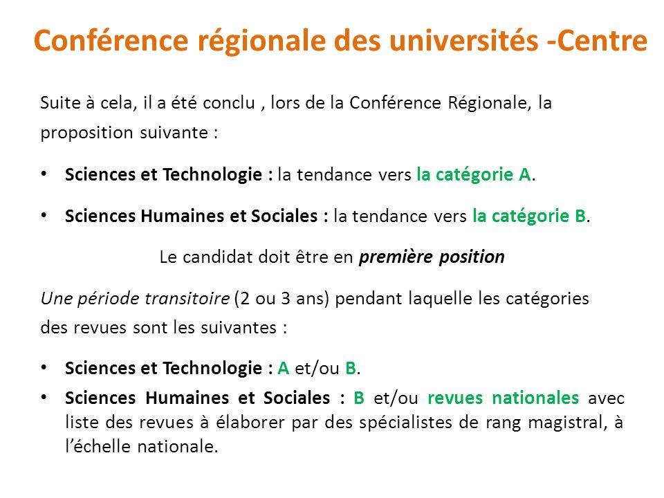 Conférence régionale des universités -Centre