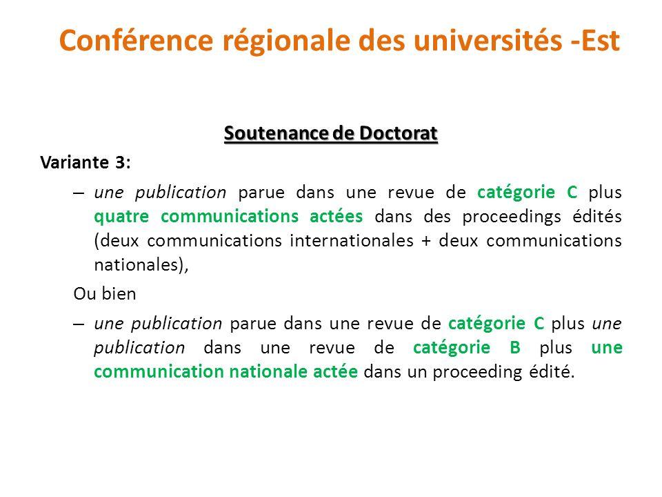 Conférence régionale des universités -Est