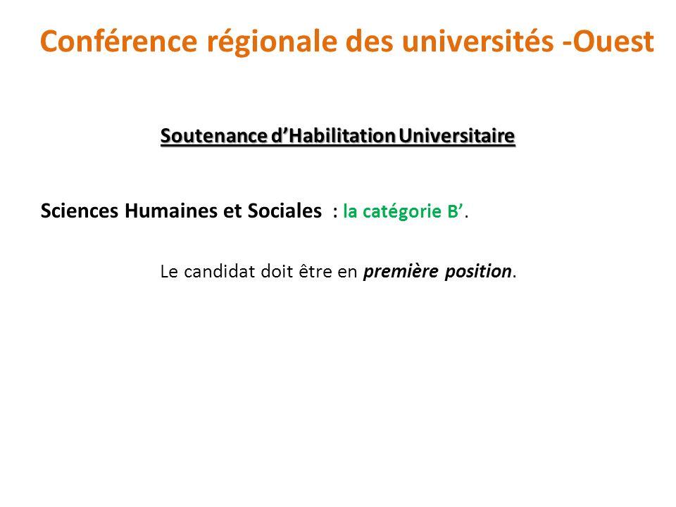 Conférence régionale des universités -Ouest