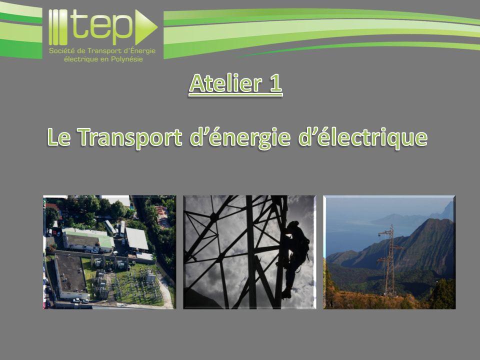 Atelier 1 Le Transport d'énergie d'électrique