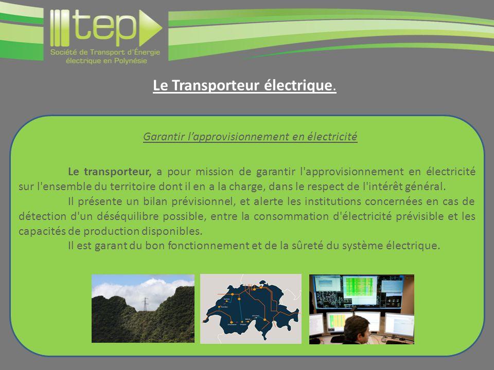 Le Transporteur électrique.