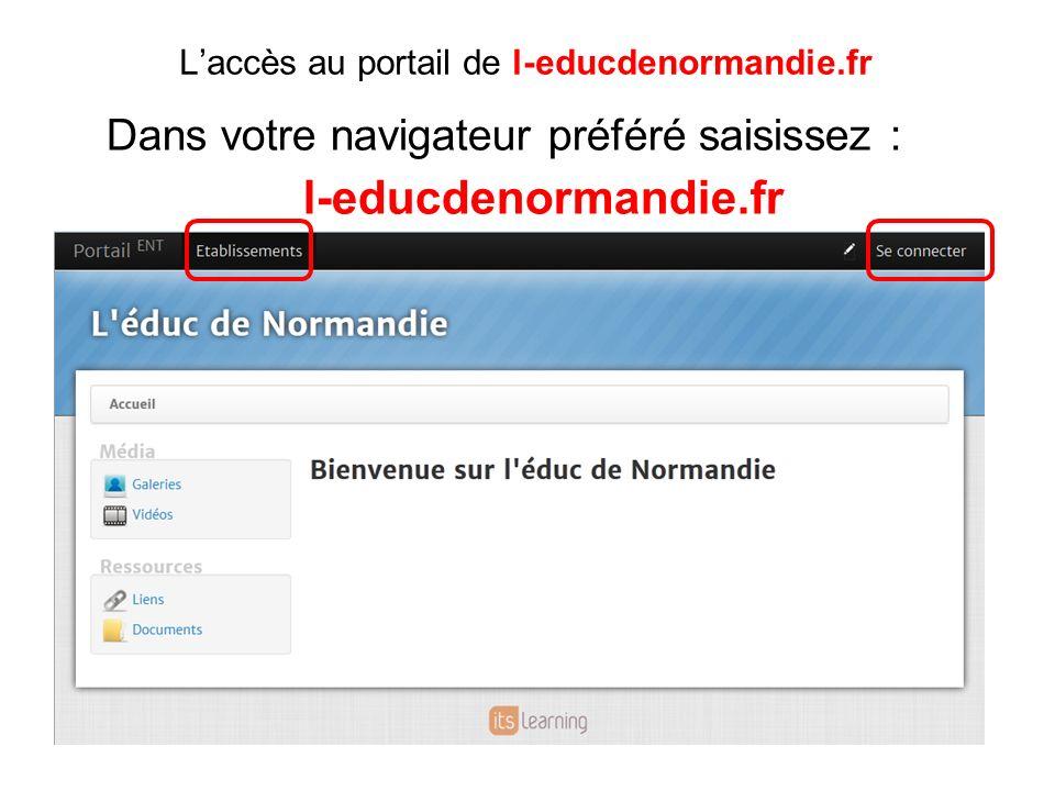 L'accès au portail de l-educdenormandie.fr