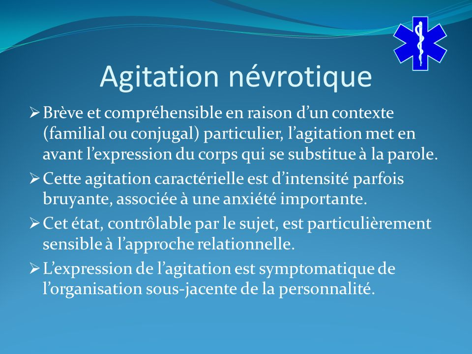 Agitation névrotique