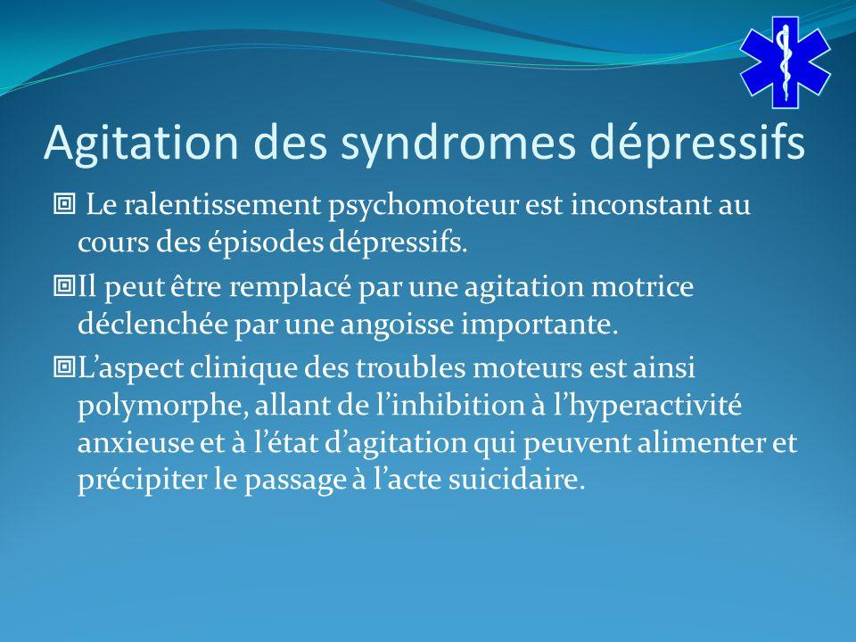 Agitation des syndromes dépressifs