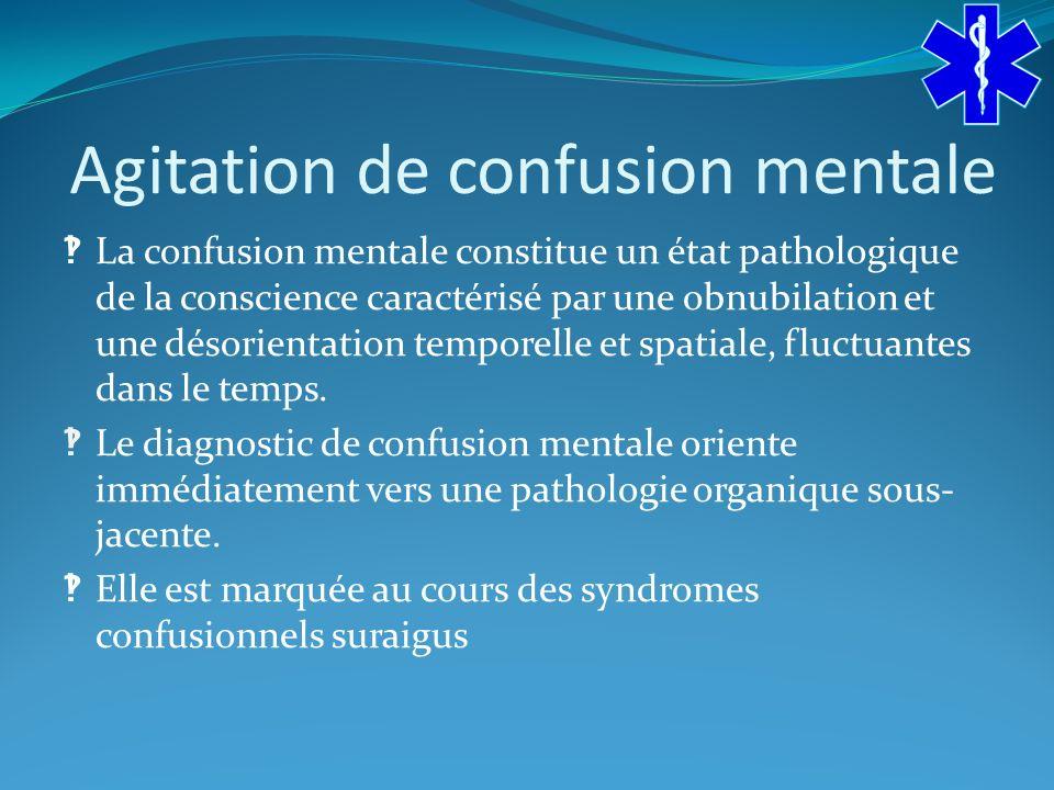 Agitation de confusion mentale