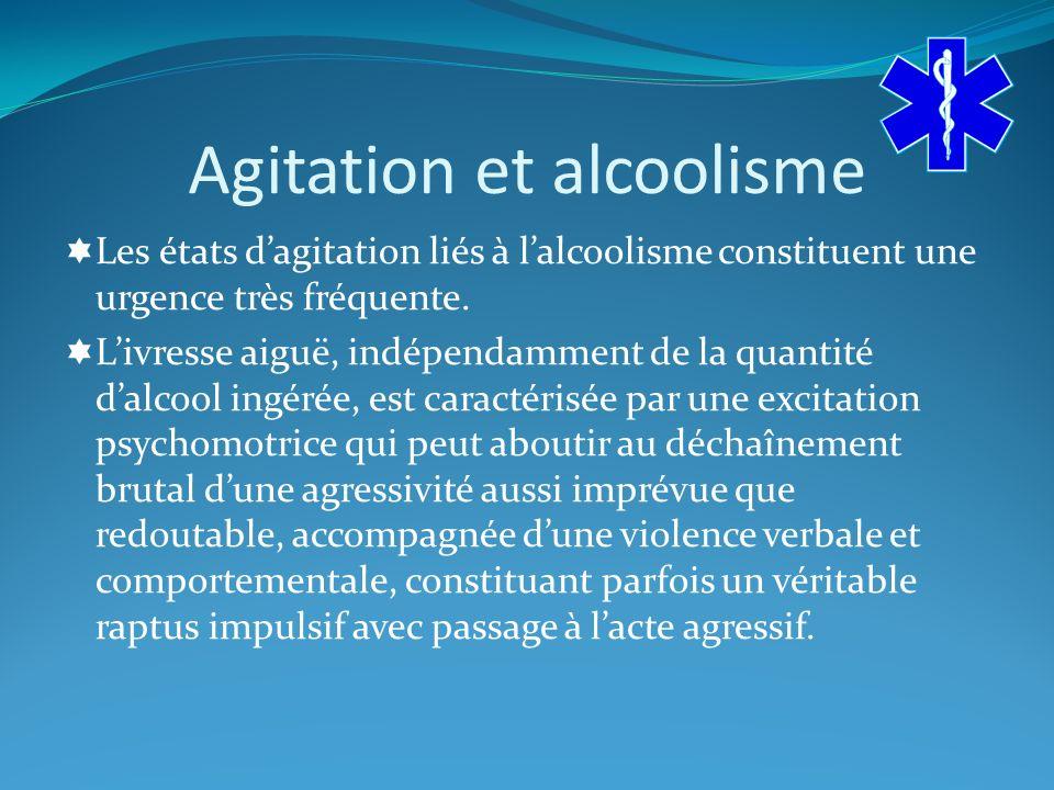 Agitation et alcoolisme