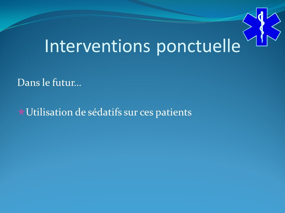 Interventions ponctuelle