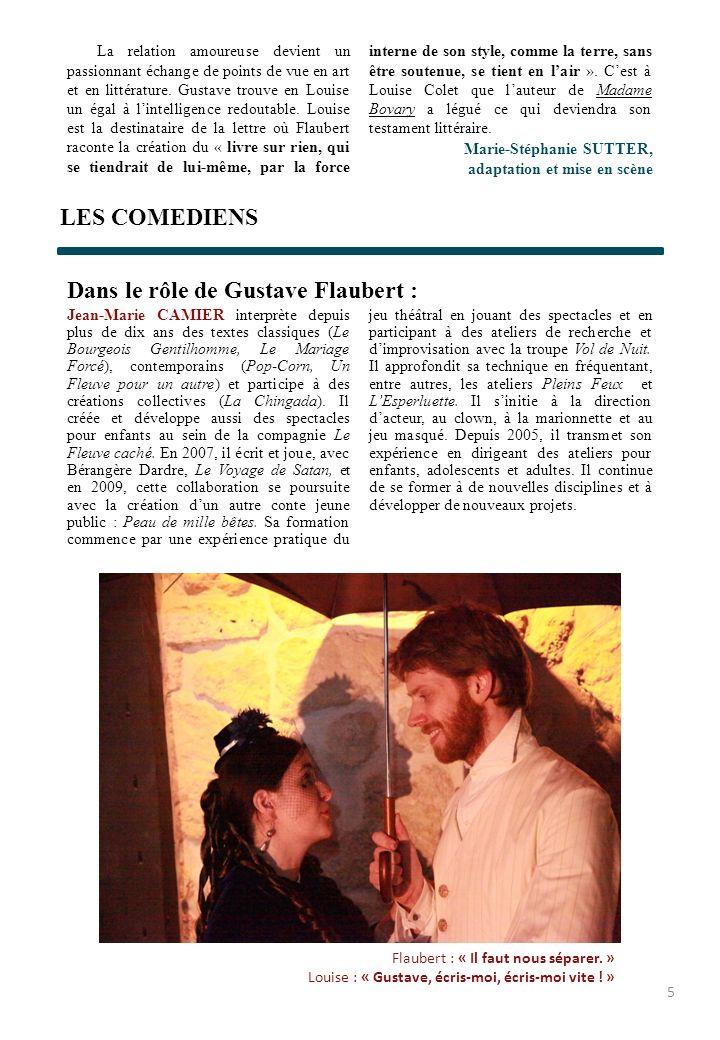 Dans le rôle de Gustave Flaubert :