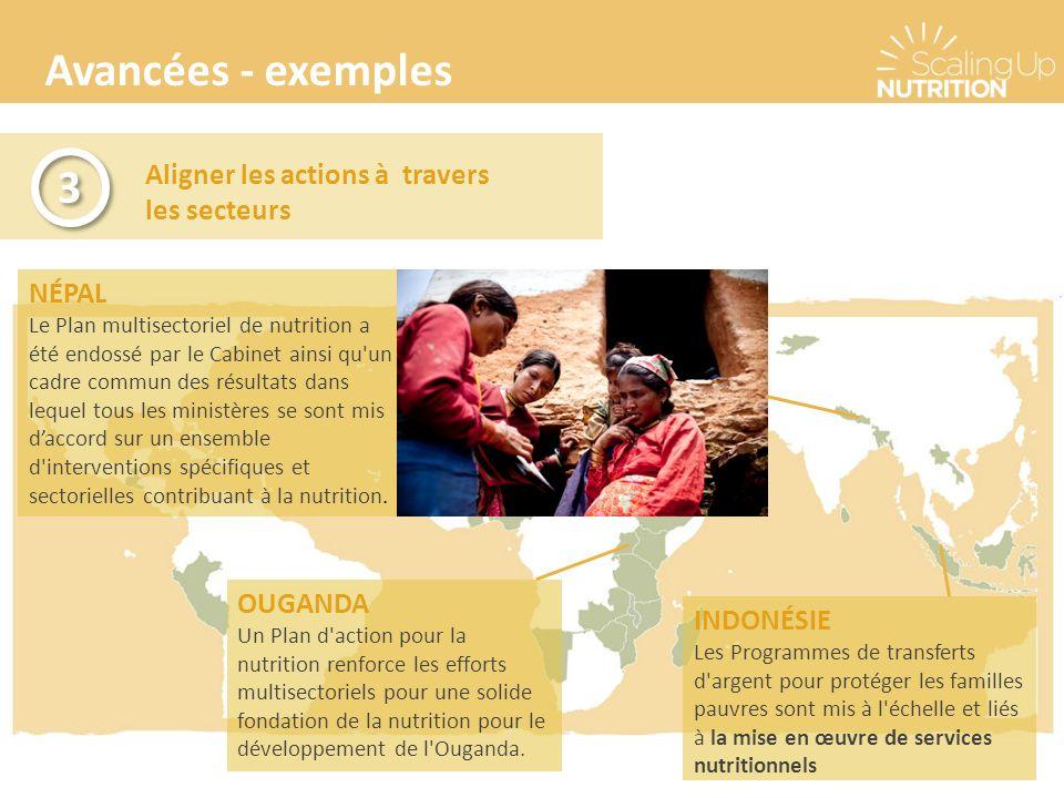 Avancées - exemples 3 Aligner les actions à travers les secteurs NÉPAL