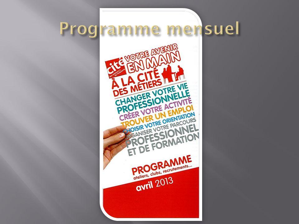 Programme mensuel Votre avenir en main