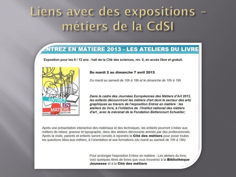 Liens avec des expositions – métiers de la CdSI