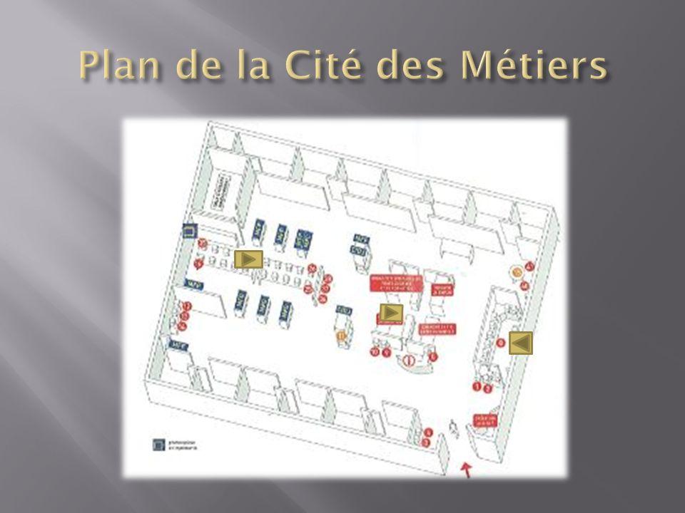 Plan de la Cité des Métiers