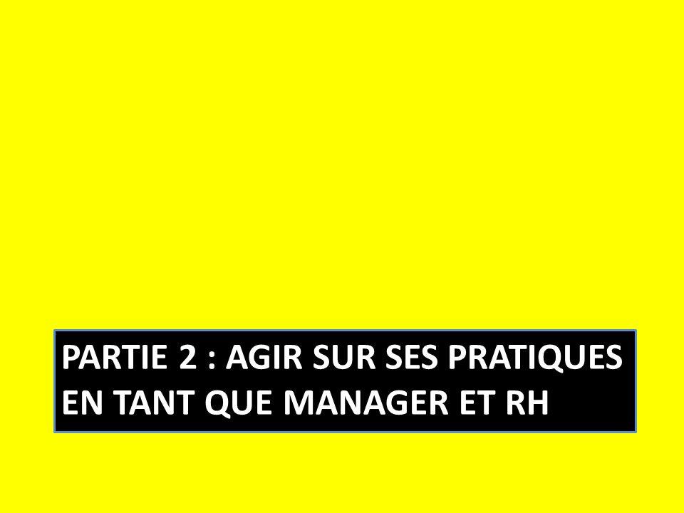 Partie 2 : agir sur ses pratiques en tant que manager et RH