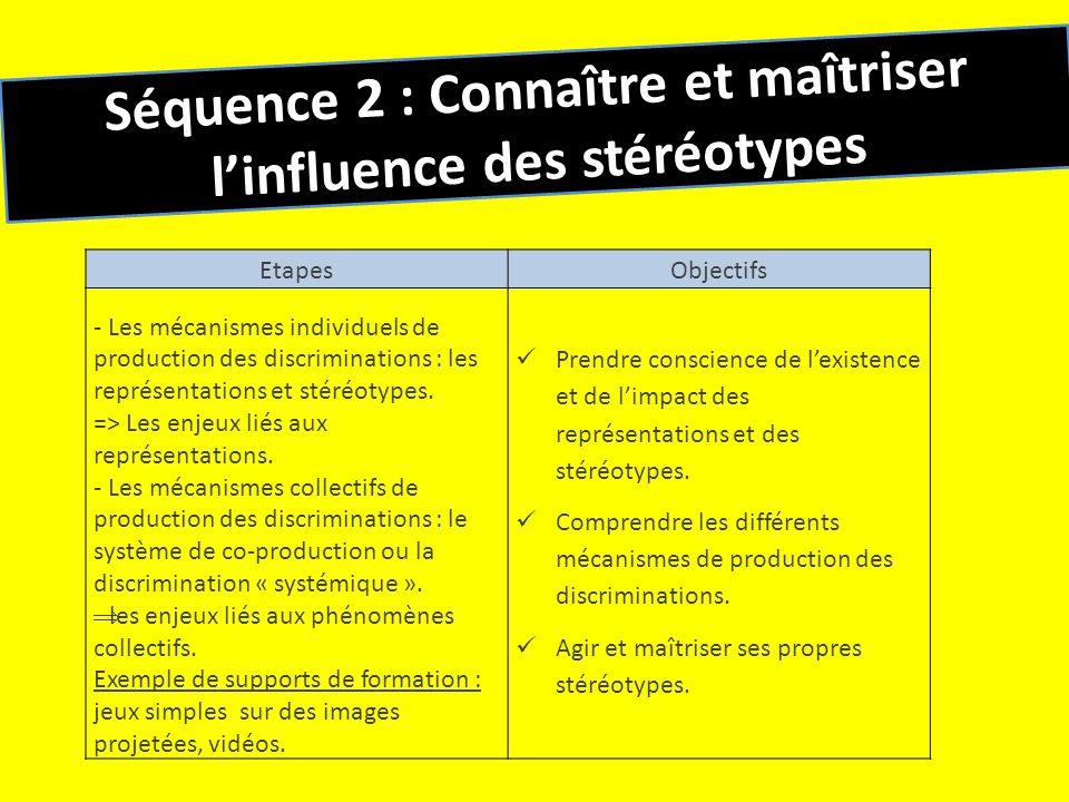 Séquence 2 : Connaître et maîtriser l'influence des stéréotypes