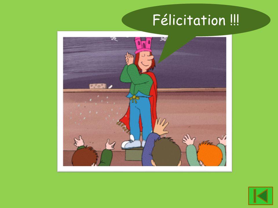 Félicitation !!!