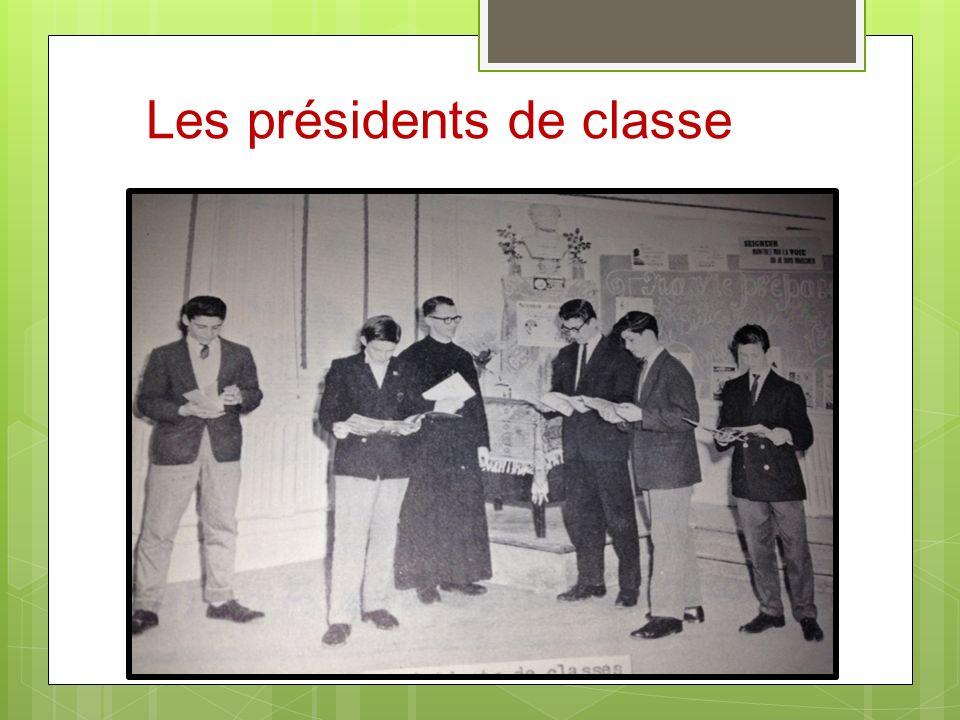 Les présidents de classe