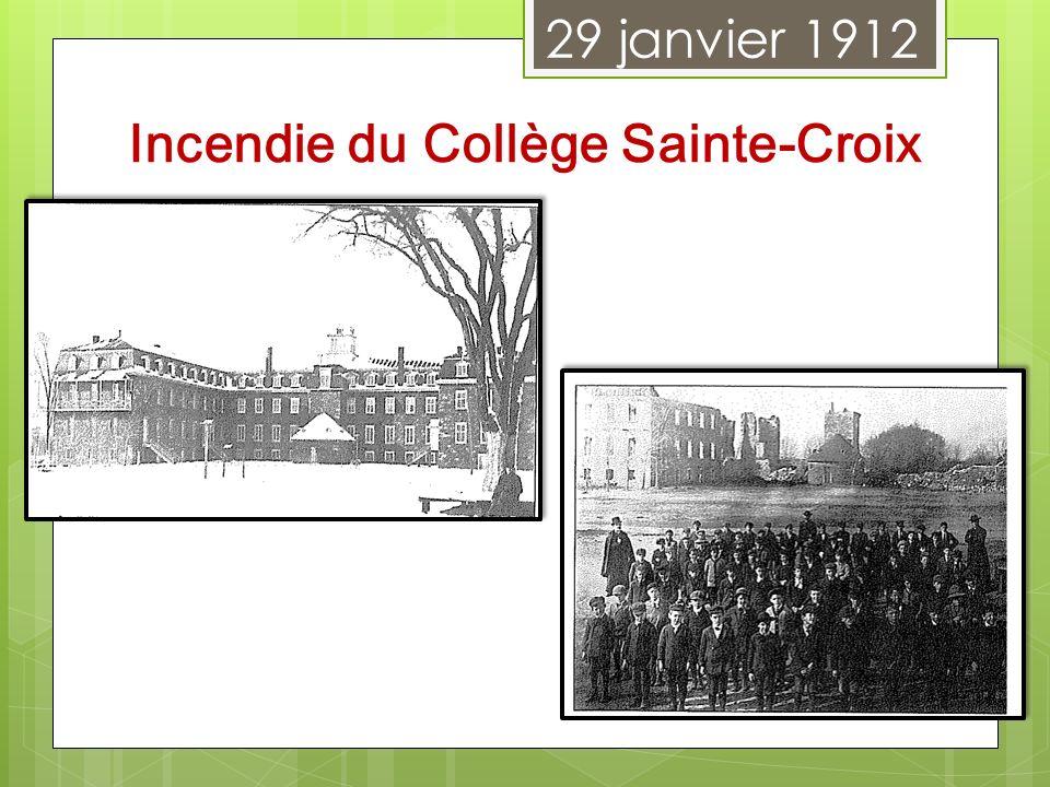 Incendie du Collège Sainte-Croix