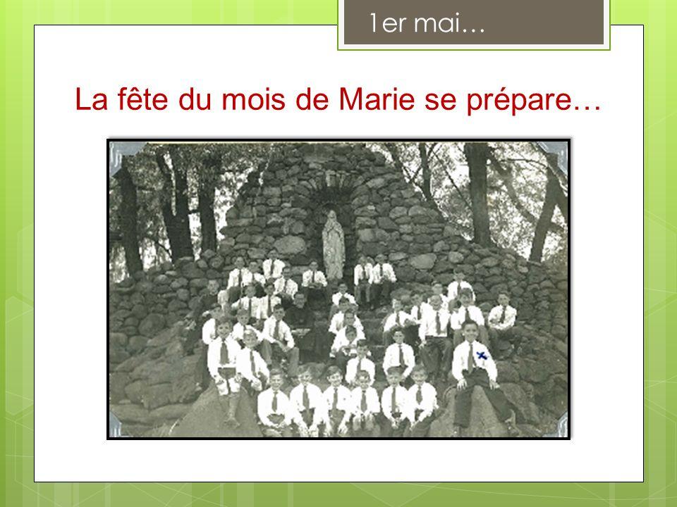 La fête du mois de Marie se prépare…