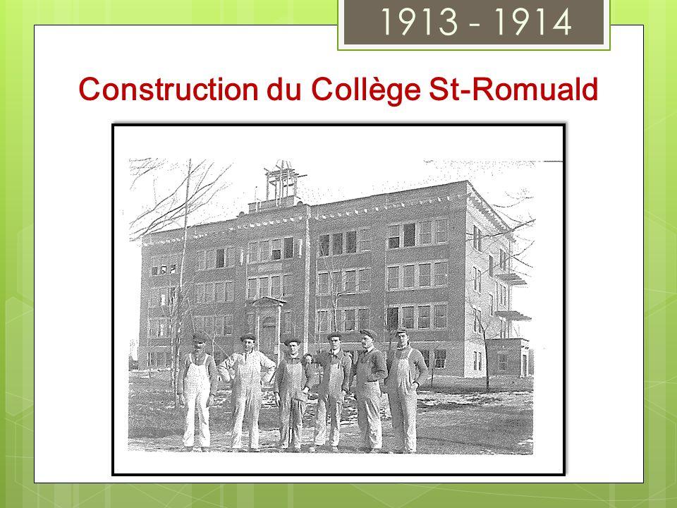 Construction du Collège St-Romuald