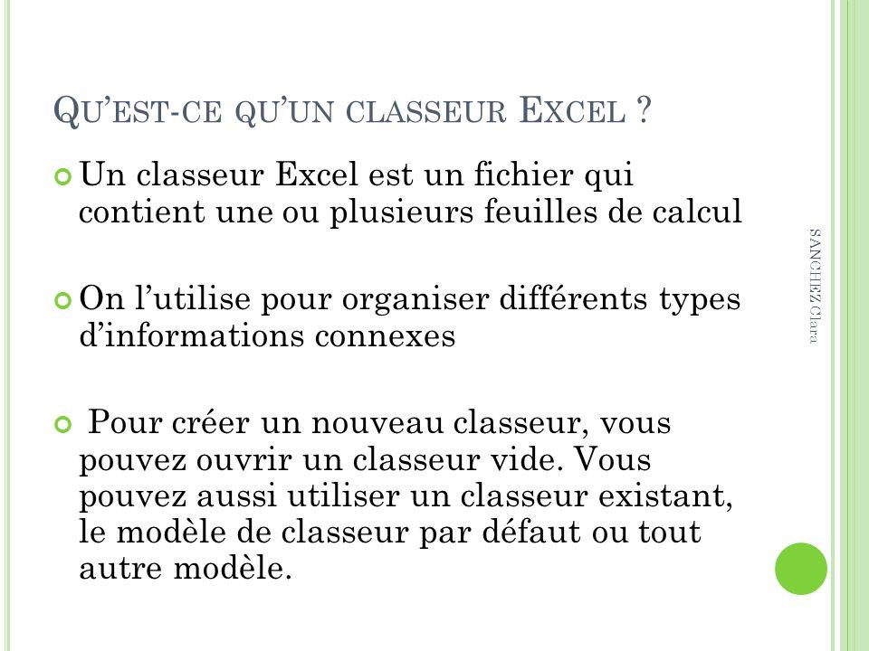 Qu'est-ce qu'un classeur Excel