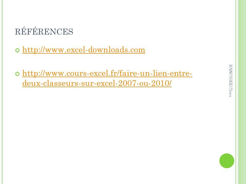 références http://www.excel-downloads.com