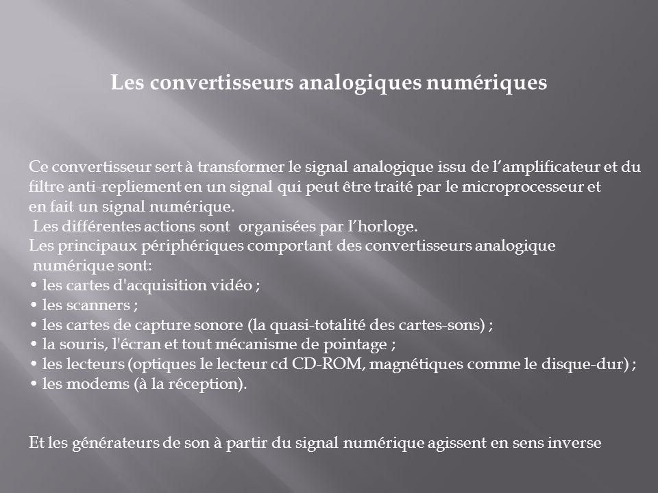 Les convertisseurs analogiques numériques