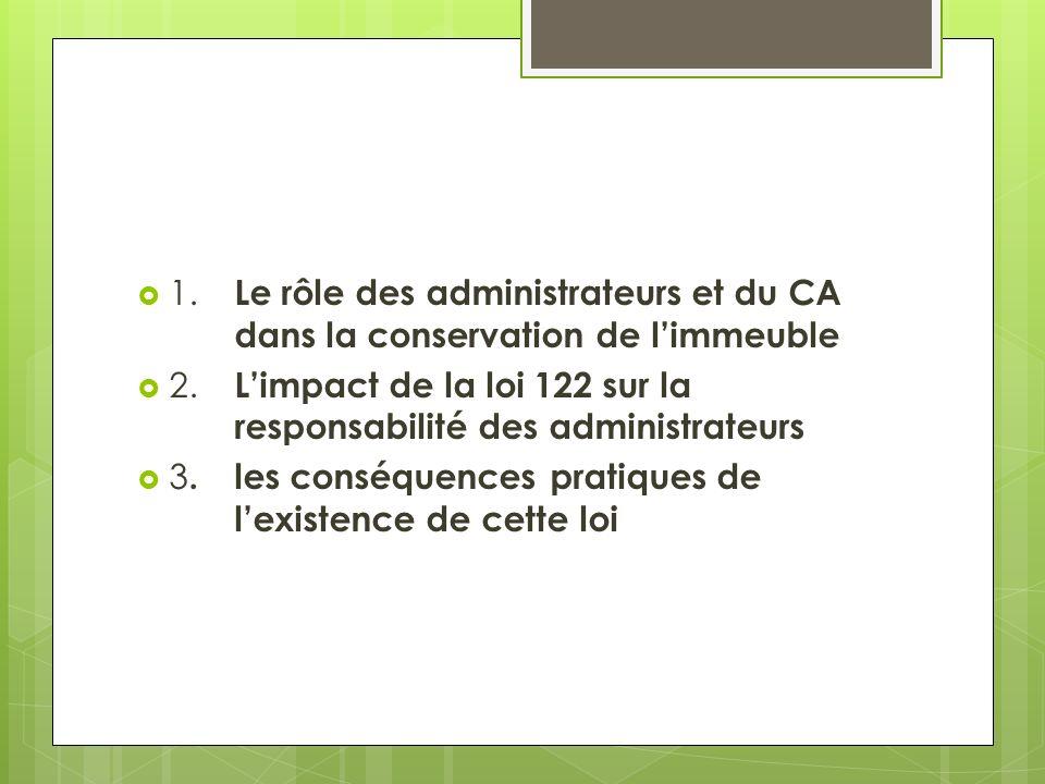 1. Le rôle des administrateurs et du CA