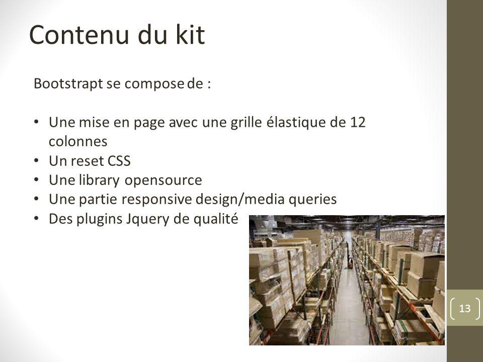 Contenu du kit Bootstrapt se compose de :