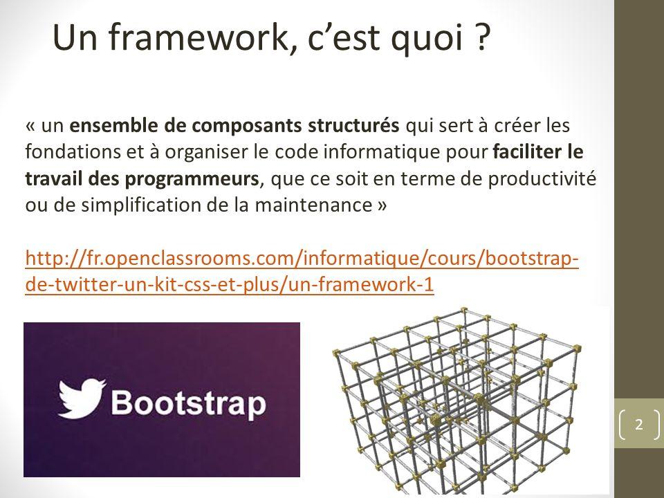 Un framework, c'est quoi
