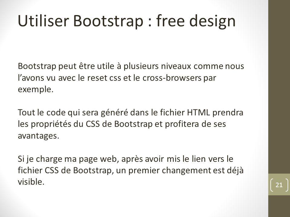 Utiliser Bootstrap : free design