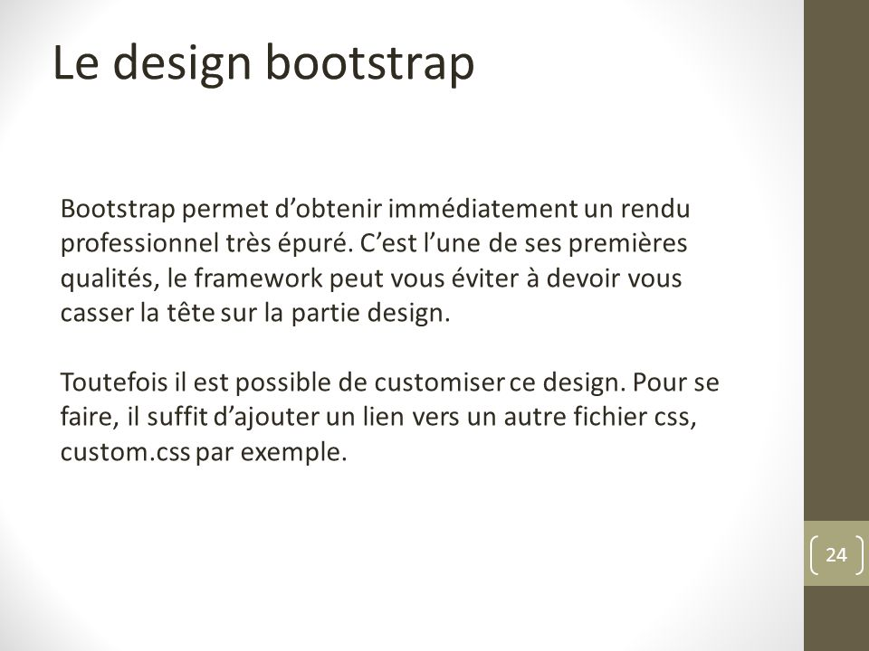 Le design bootstrap