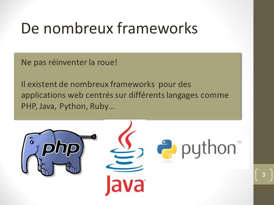 De nombreux frameworks