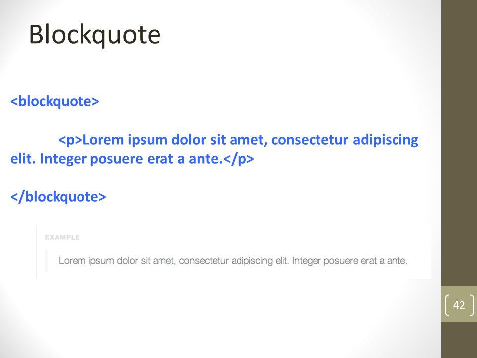 Blockquote <blockquote>