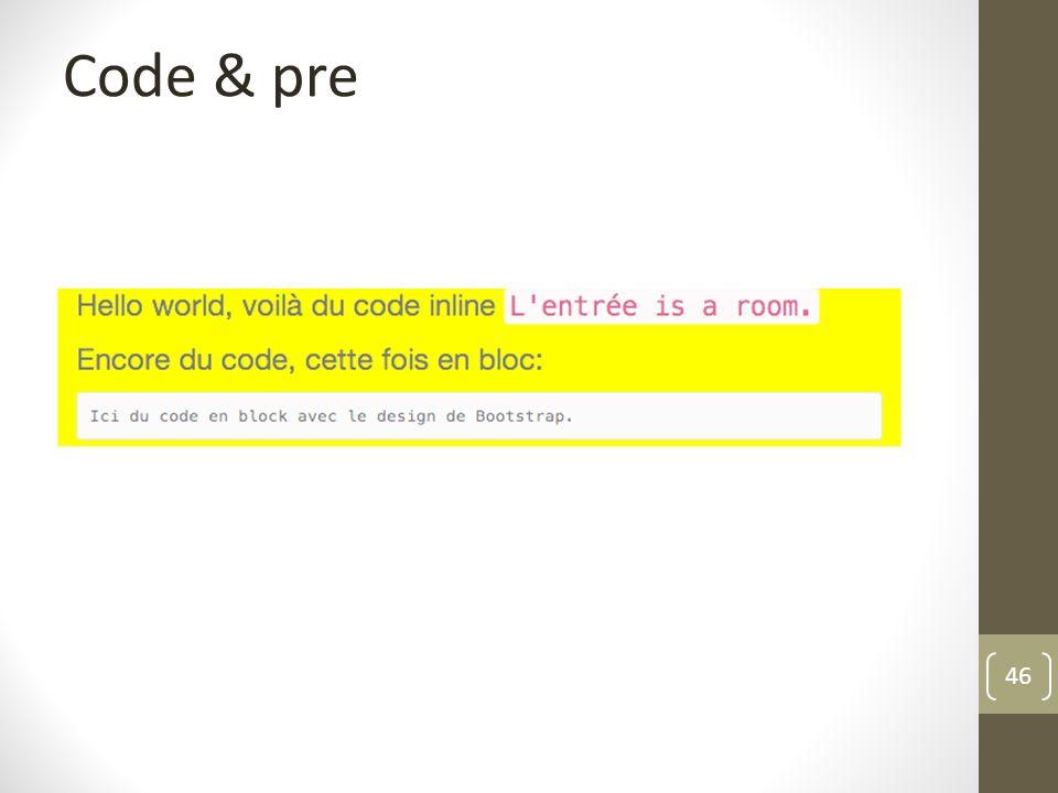 Code & pre
