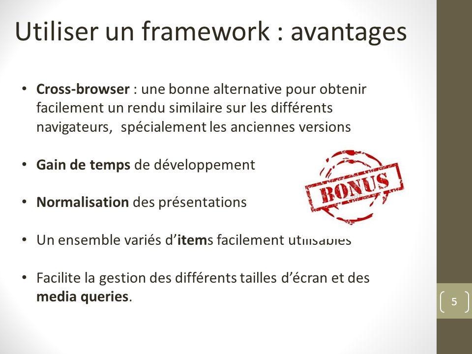 Utiliser un framework : avantages