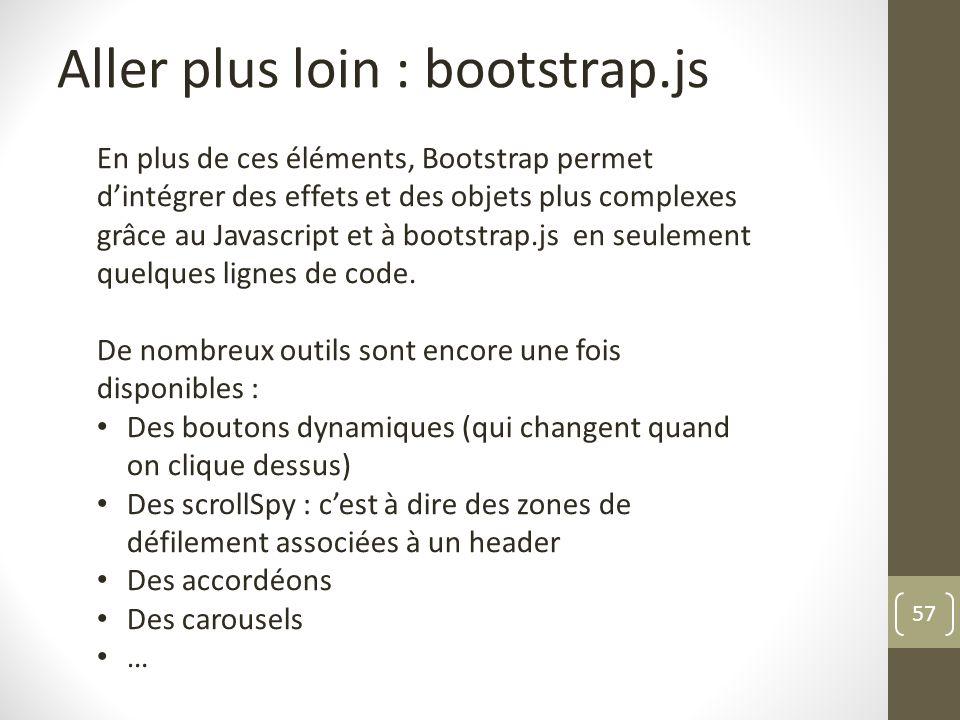 Aller plus loin : bootstrap.js