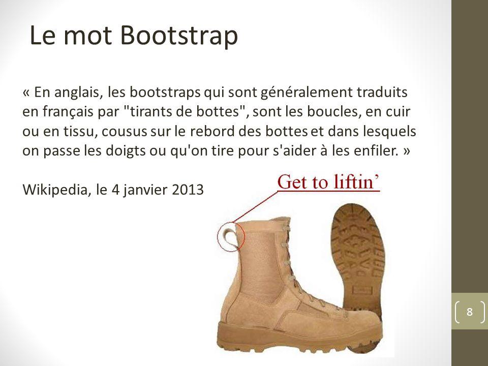Le mot Bootstrap