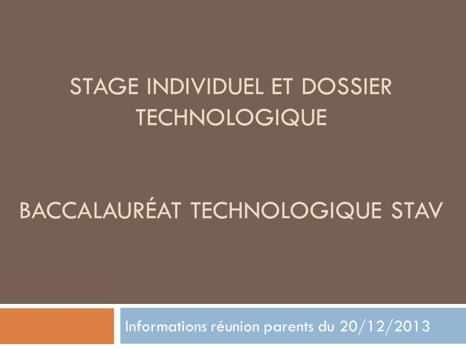 Informations réunion parents du 20/12/2013