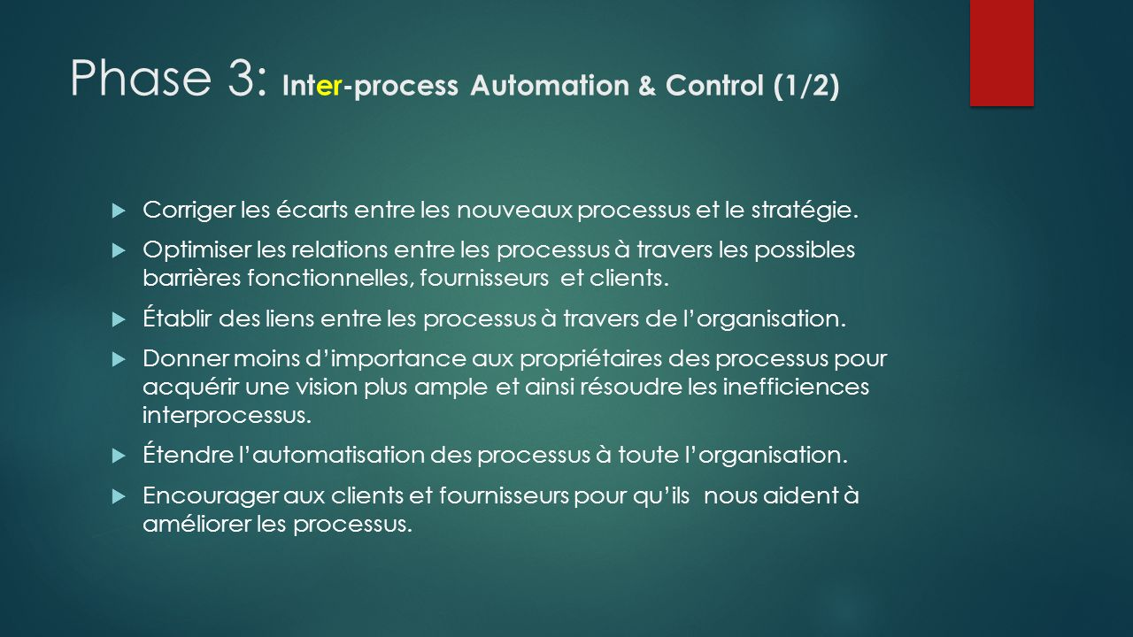 Phase 3: Inter-process Automation & Control (1/2)