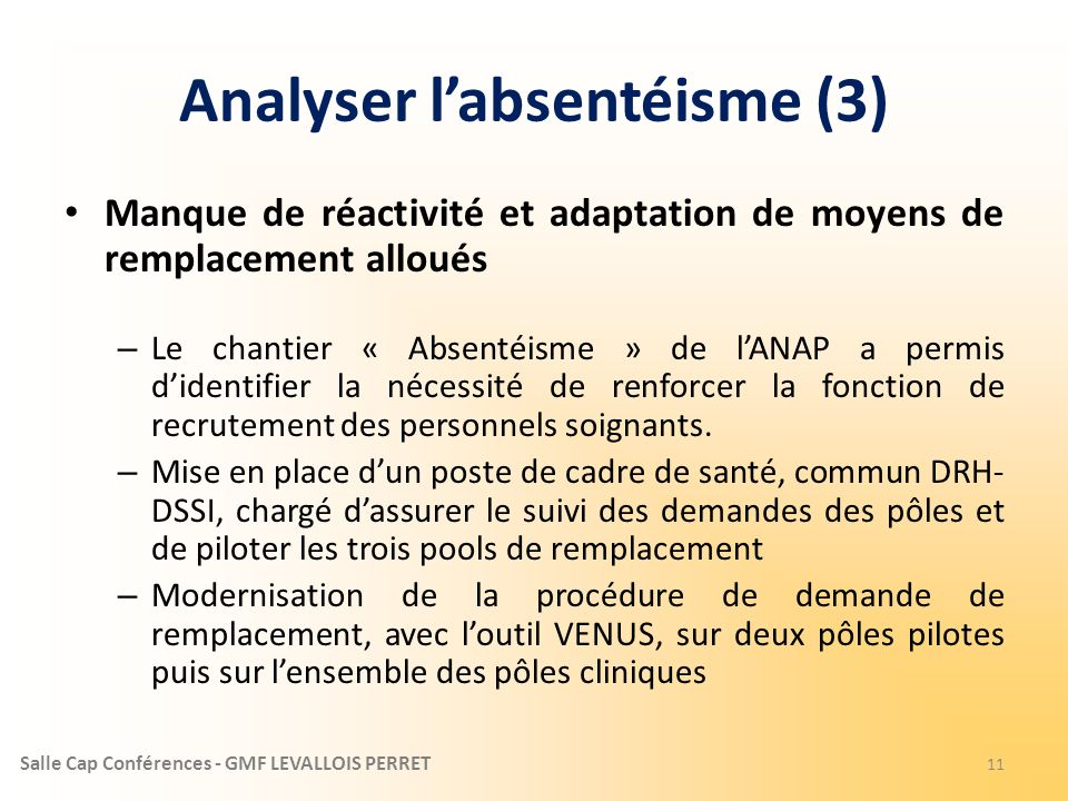 Analyser l'absentéisme (3)