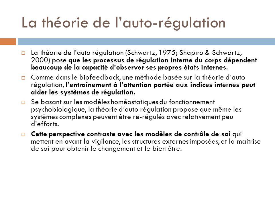 La théorie de l'auto-régulation