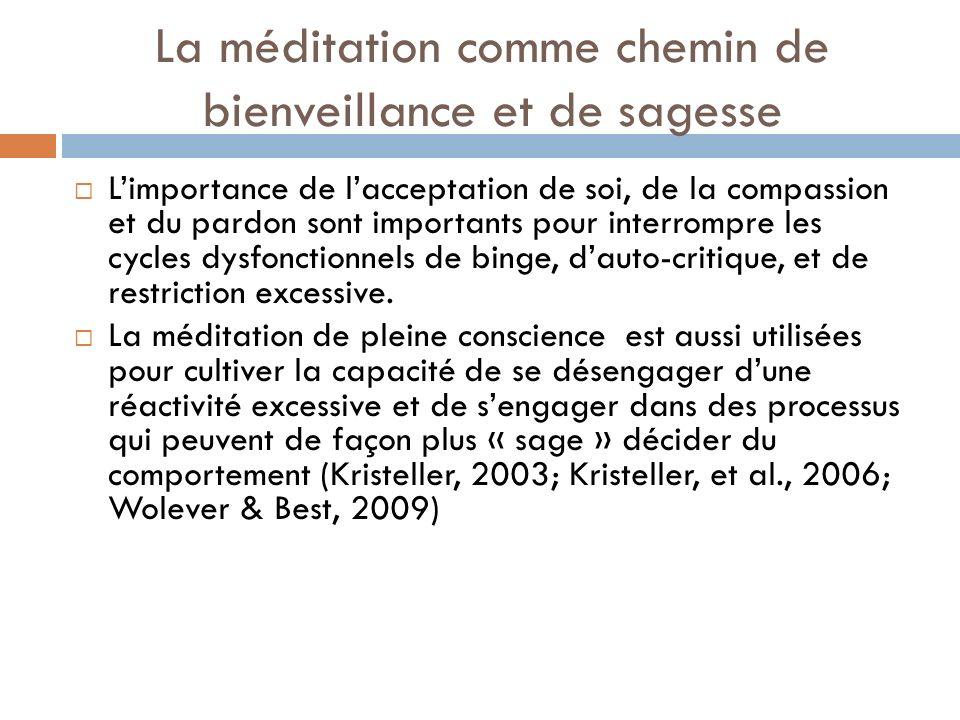 La méditation comme chemin de bienveillance et de sagesse