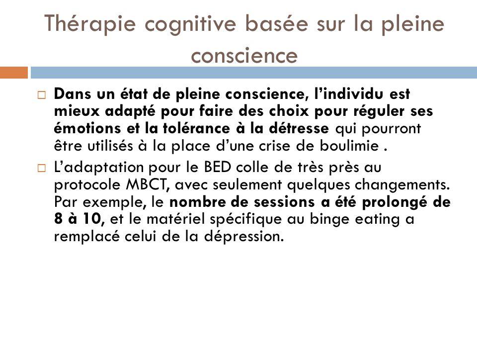 Thérapie cognitive basée sur la pleine conscience