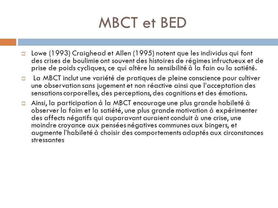 MBCT et BED