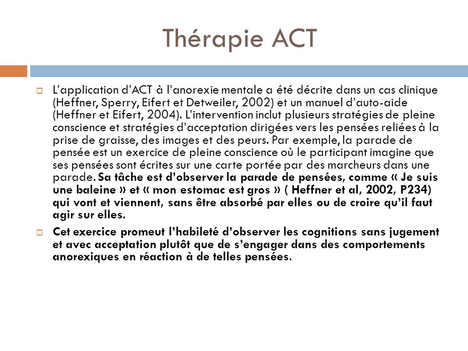 Thérapie ACT
