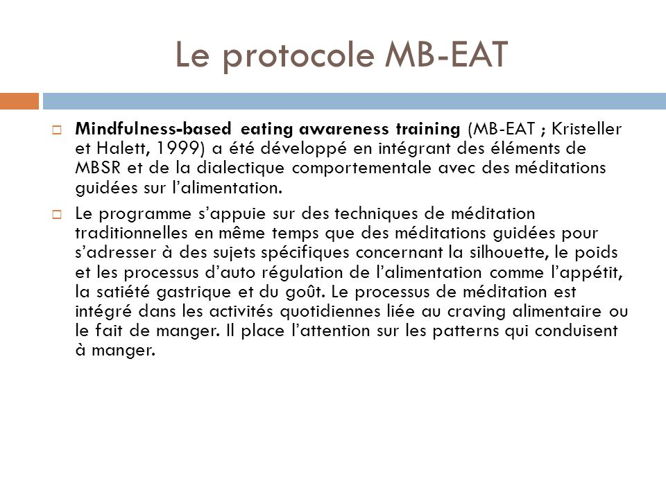 Le protocole MB-EAT