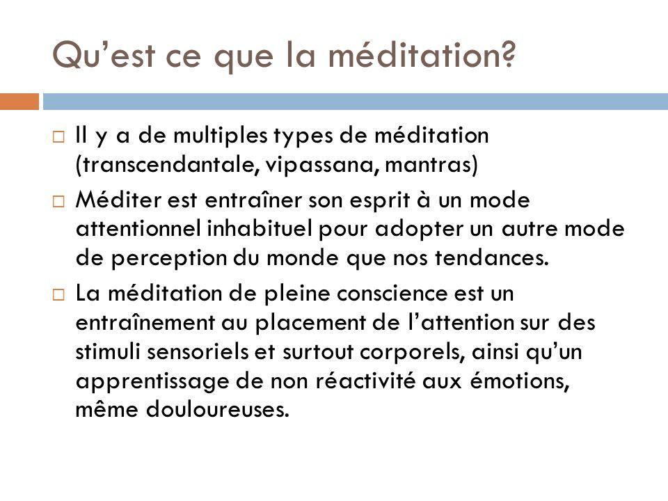 Qu'est ce que la méditation