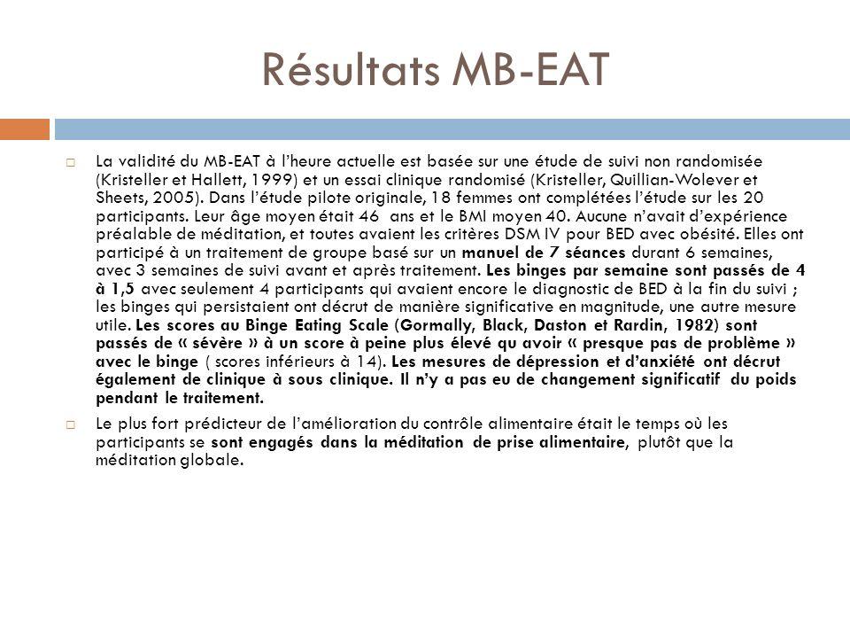 Résultats MB-EAT