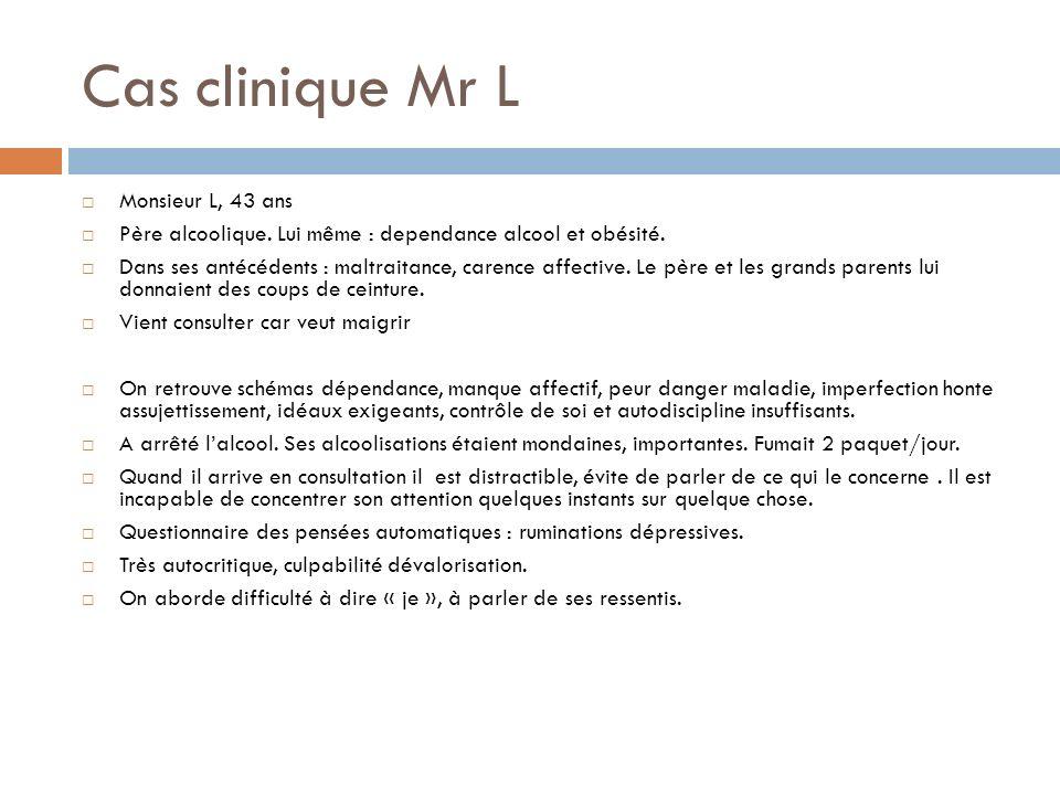 Cas clinique Mr L Monsieur L, 43 ans