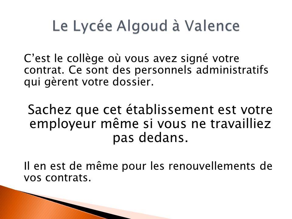 Le Lycée Algoud à Valence